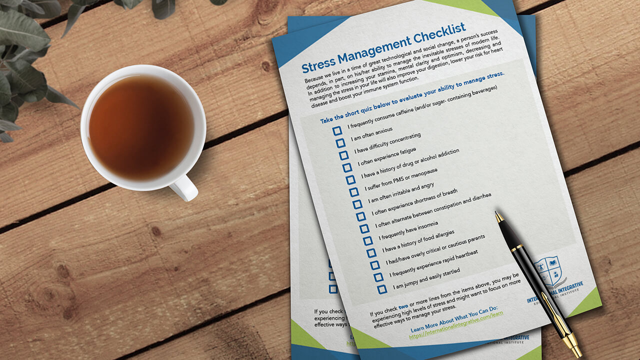 Download our stress and anxiety checklists free!